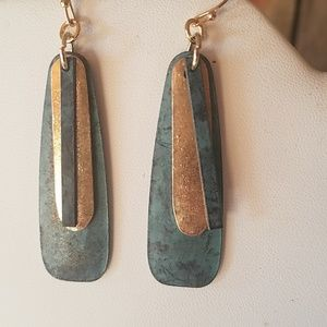 Gold and copper Dangle earrings